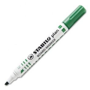 "Táblamarker, 1-5 mm, vágott, STABILO ""Plan"", zöld"