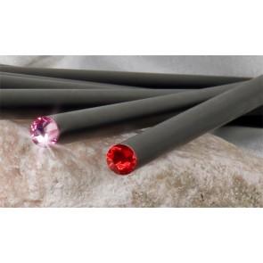 Ceruza, fekete, rózsaszín SWAROVSKI® kristállyal, exkluzív, 17cm, ART CRYSTELLA®
