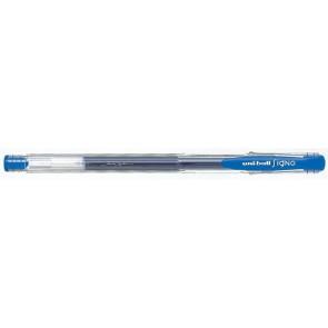 "Zseléstoll, 0,3 mm, kupakos, UNI ""UM-100 Signo Micro"", kék"