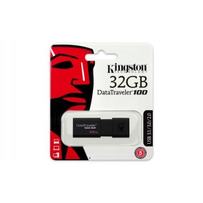 "Pendrive, 32GB, USB 3.0, KINGSTON ""DT100 G3"", fekete"
