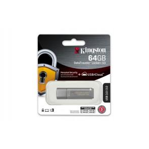 "Pendrive, 64GB, USB 3.0, jelszavas védelem, KINGSTON "" DataTraveler Locker+ G3"", ezüst"