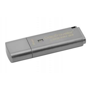"Pendrive, 8GB, USB 3.0, jelszavas védelem, KINGSTON "" DataTraveler Locker+ G3"", ezüst"