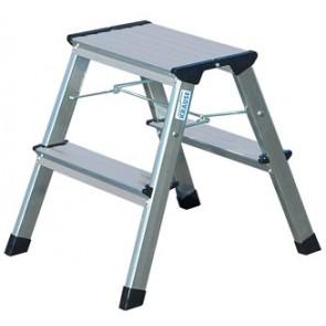 """Fellépő, gurítható lépcsőfokos, 2x2 lépcsőfok, alumínium KRAUSE """"Rolly"""""""