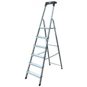 """Állólétra, 6 lépcsőfokos, alumínium, KRAUSE """"Safety"""""""