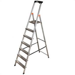 """Állólétra, 7 lépcsőfokos, alumínium, KRAUSE """"Safety"""""""