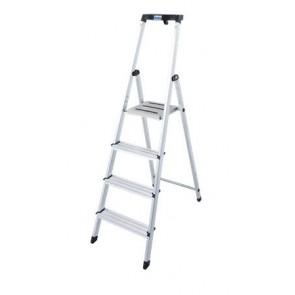 """Állólétra, 4 lépcsőfokos, alumínium, KRAUSE """"Safety"""""""