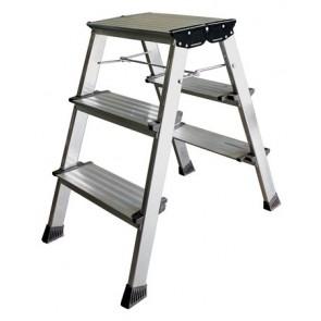 """Fellépő, 3 lépcsőfokos, alumínium, KRAUSE """"Treppo"""""""