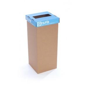 """Szelektív hulladékgyűjtő, újrahasznosított, 60 l, RECOBIN """"Office"""", kék"""