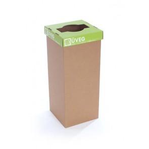 """Szelektív hulladékgyűjtő, újrahasznosított, 60 l, RECOBIN """"Slim"""", zöld"""