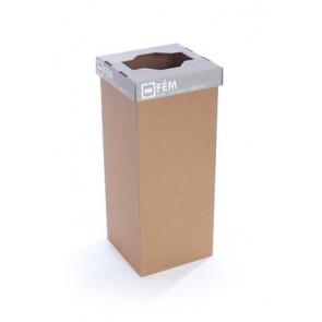 """Szelektív hulladékgyűjtő, újrahasznosított, 60 l, RECOBIN """"Office"""", szürke"""