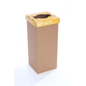 """Szelektív hulladékgyűjtő, újrahasznosított, angol felirat, 60 l, RECOBIN """"Office"""", sárga"""