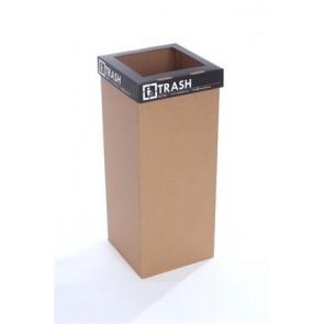 """Szelektív hulladékgyűjtő, újrahasznosított, angol felirat, 60 l, RECOBIN """"Office"""", fekete"""