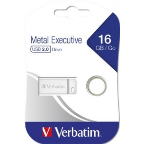 "Pendrive, 16GB, USB 2.0,  VERBATIM ""Executive Metal"""