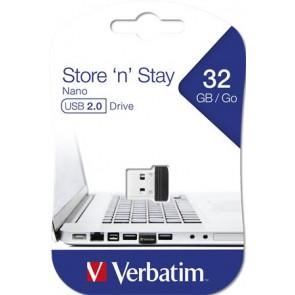 "Pendrive, 32GB, USB 2.0, 10/3MB/sec, VERBATIM ""Nano"""