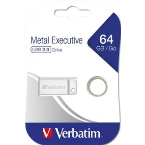 "Pendrive, 64GB, USB 2.0,  VERBATIM ""Exclusive Metal"""