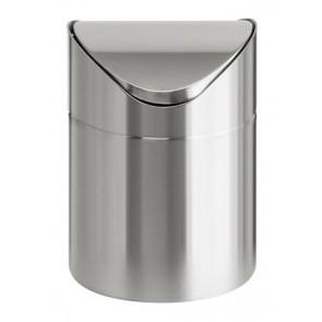 Billenős szemetes, 1,5 l, rozsdamentes acél, asztali, VEPA BINS, ezüst