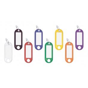 Kulcscímke, 100 db, WEDO, 8 különböző színben