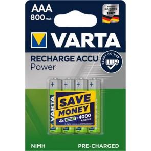 """Tölthető elem, AAA mikro, 4x800 mAh, előtöltött, VARTA """"Power"""""""