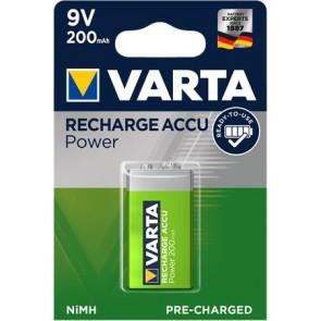 """Tölthető elem, 9V, 1x200 mAh, előtöltött, VARTA """"Power"""""""