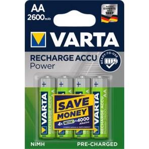 """Tölthető elem, AA ceruza, 4x2600 mAh, előtöltött, VARTA """"Power"""""""