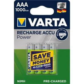 """Tölthető elem, AAA mikro, 4x1000 mAh, előtöltött, VARTA """"Power"""""""