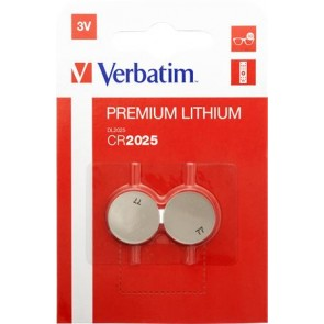 """Gombelem, CR2025, 2 db, VERBATIM """"Premium"""""""