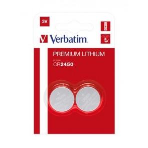 """Gombelem, CR2450, 2 db, VERBATIM """"Premium"""""""