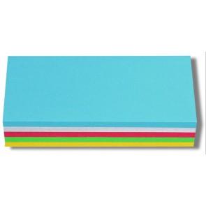 Moderációs kártya, téglalap , 9,5x20 cm, 250 lap, NOBO