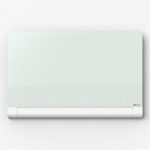 Mágneses üvegtábla, kerekített sarkú,  105,3x188,3 cm, NOBO, fehér