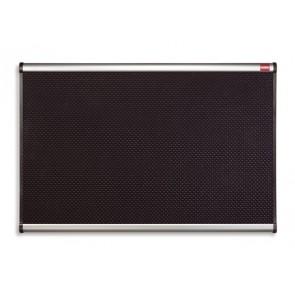 """Habtábla, tűzhető, fekete, 90x120 cm, alumínium/műanyag keret, NOBO """"Prestige"""""""