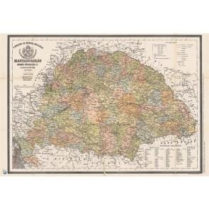 """Könyökalátét, kétoldalas, STIEFEL,  """"Antik Magyarország 1876/Magyarország járásai"""""""