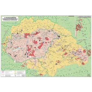 """Könyökalátét, kétoldalas, STIEFEL """"Magyarország néprajzi térkép"""""""