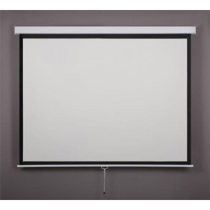 Vetítővászon, fali, rolós, 1:1, 160x160cm, VICTORIA