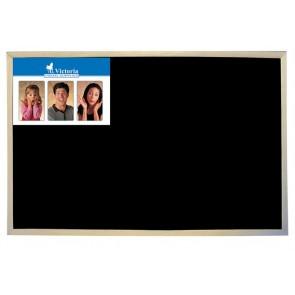 Krétás tábla, fekete felület, nem mágneses, 30x40 cm, fakeret, VICTORIA