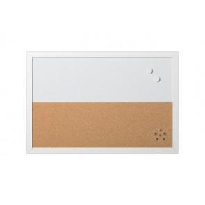 """Kombi tábla, mágneses, parafa,  60x40 cm,  fehér keret, VICTORIA, """"Elements"""""""