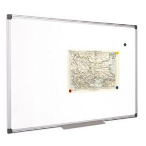 Fehértábla, mágneses, 100x150 cm, alumínium keret, VICTORIA