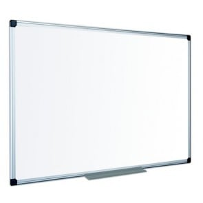Fehértábla, zománcozott, mágneses, matt,  100x200 cm, alumínium keret VICTORIA