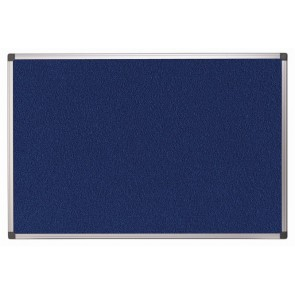 Textiltábla, 120x180 cm, alumínium keret, kék