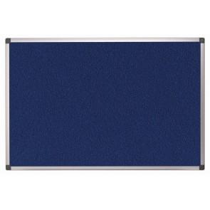 Textiltábla, 60x35 cm, alumínium keret, kék