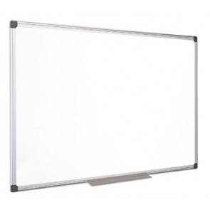 Fehértábla, mágneses, zománcozott, 100x150 cm, alumínium keret, VICTORIA