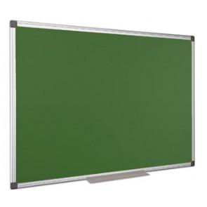 Krétás tábla, zöld felület, nem mágneses, 90x120 cm, alumínium keret