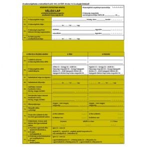 """Jegyzőkönyv felbontott vagy érvénytelenített házasságról 2 lapos garnitúra """"C.0243-92/2013"""""""