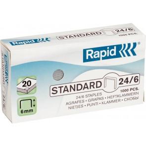 """Tűzőkapocs, 24/6, horganyzott, RAPID """"Standard"""""""