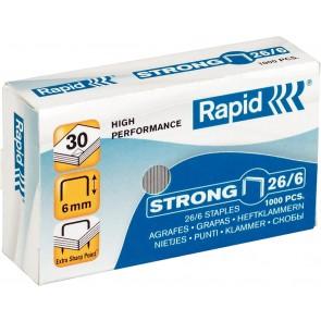"""Tűzőkapocs, 26/6, horganyzott, RAPID """"Strong"""""""